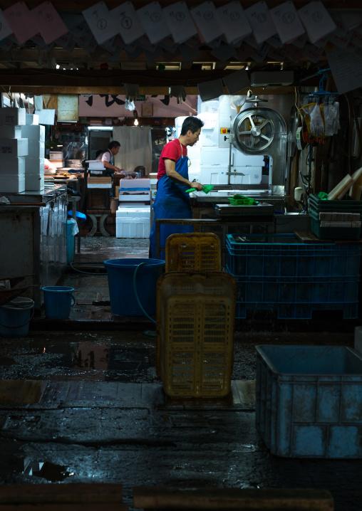 Tsukiji fish market, Kanto region, Tokyo, Japan