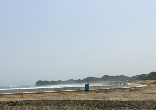 Contaminated beach after the daiichi nuclear power plant irradiation, Fukushima prefecture, Tairatoyoma beach, Japan