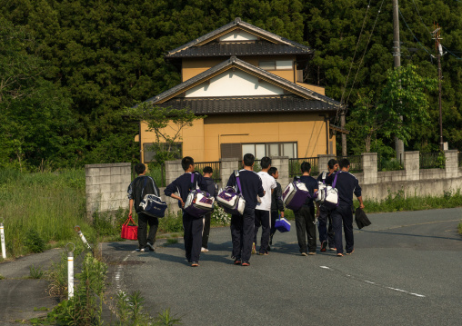 Baseball team going to play in the contamined area, Fukushima prefecture, Naraha, Japan