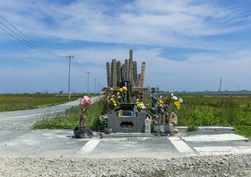 A shrine to victims of the 2011 tsunami, Fukushima prefecture, Namie, Japan
