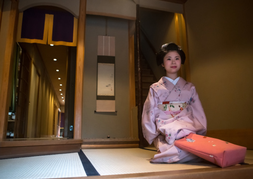 16 Years old maiko called chikasaya in her geisha house, Kansai region, Kyoto, Japan
