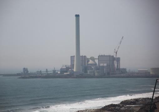 Fukushima daiichi nuclear power plant five years after the tsunami, Fukushima prefecture, Futaba, Japan