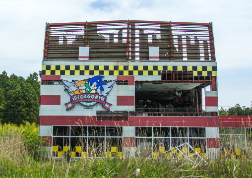 Abandoned video games shop in the difficult-to-return zone after the daiichi nuclear power plant irradiation, Fukushima prefecture, Tomioka, Japan