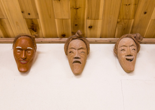 Traditional masks, Yaeyama Islands, Taketomi island, Japan