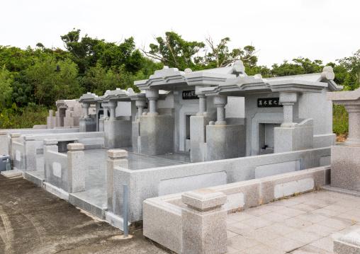 Graves in a cemetery, Yaeyama Islands, Taketomi island, Japan
