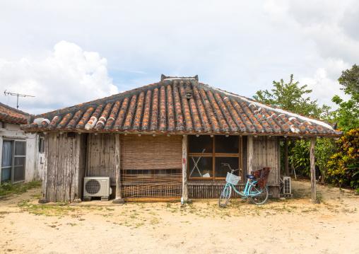 A traditional house, Yaeyama Islands, Taketomi island, Japan