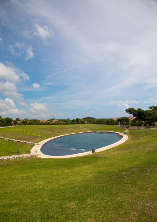 Hoshinoya hotel swimming pool, Yaeyama Islands, Taketomi island, Japan
