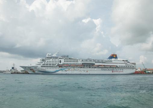 Chinese cruise ship called aquarius, Yaeyama Islands, Ishigaki, Japan