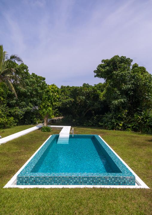 Jusandi hotel private swimming pool, Yaeyama Islands, Ishigaki, Japan