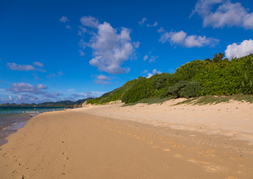 Empty sunset beach, Yaeyama Islands, Ishigaki, Japan