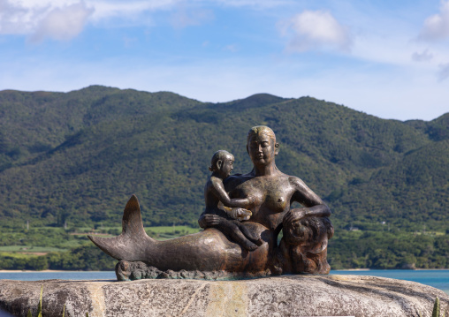 Mermaid statue, Yaeyama Islands, Ishigaki, Japan