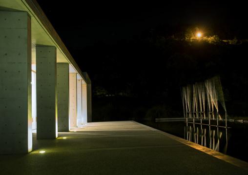 Wooden installation art in Benesse house, Seto Inland Sea, Naoshima, Japan