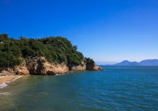 Coastline view, Seto Inland Sea, Naoshima, Japan