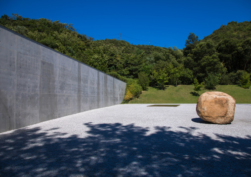Lee Ufan museum designed by Tadao Ando, Seto Inland Sea, Naoshima, Japan