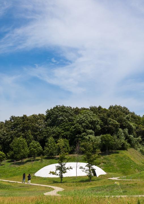 The concrete shells of the Teshima art museum, Kagawa prefectiure, Teshima, Japan