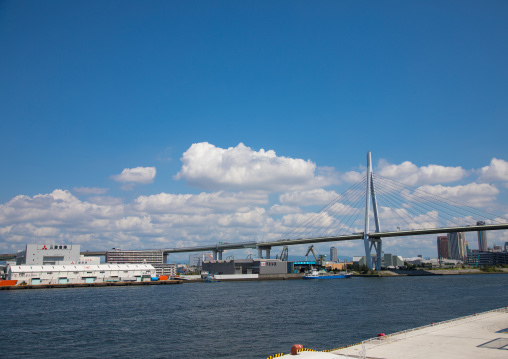 Bridge over the port , Kansai region, Osaka, Japan
