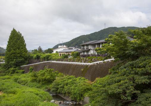 Houses in a countryside landscape, Izu peninsula, Izu, Japan