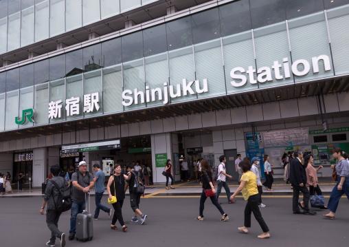 Shinjuku train station, Kanto region, Tokyo, Japan