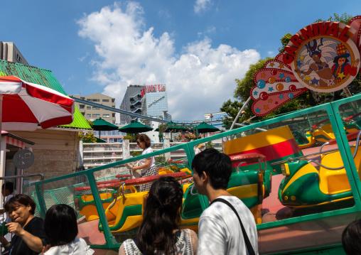 Carousel in Hanayashiki park, Kanto region, Tokyo, Japan