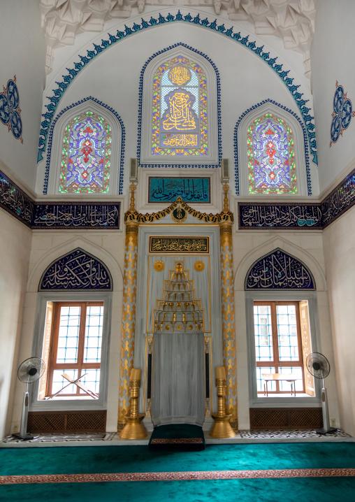 Mirhab in Oyama-cho Tokyo Camii mosque, Kanto region, Tokyo, Japan