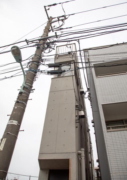 Very narrow house in the city, Kanto region, Tokyo, Japan