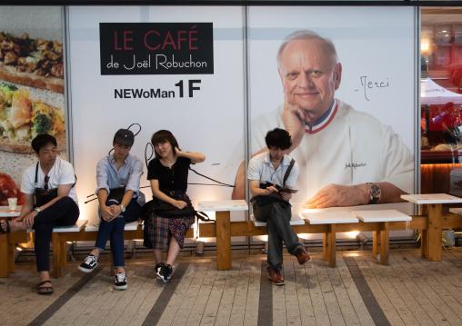 Joel Robuchon billboard in Newoman mall, Kanto region, Tokyo, Japan