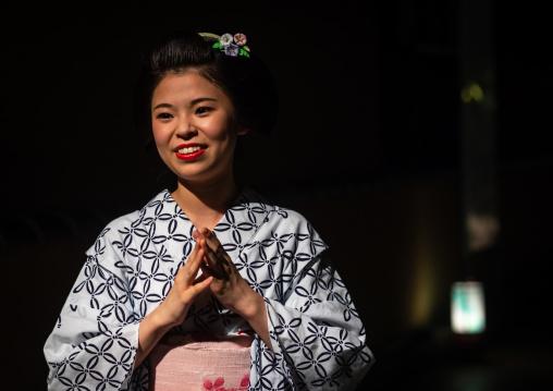 Portrait of a maiko called Chikasaya, Kansai region, Kyoto, Japan