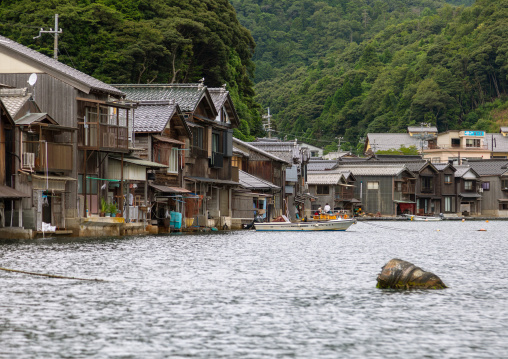 Funaya fishermen houses, Kyoto prefecture, Ine, Japan