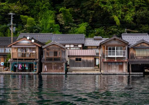Funaya fishermen houses, Kyoto prefecture, Ine, Japan