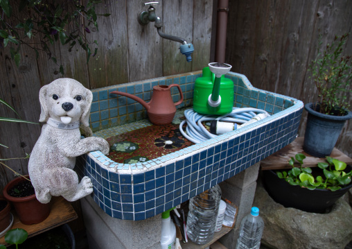 Kitchen sink with a dog toy, Kyoto prefecture, Ine, Japan