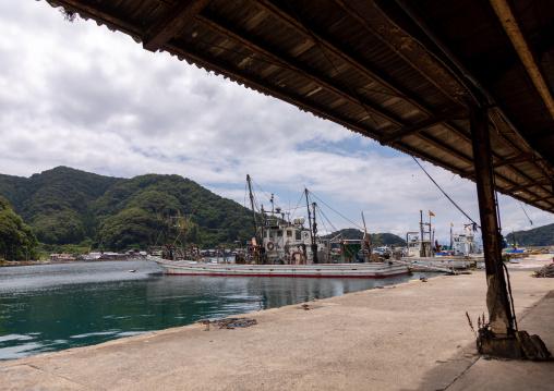 Fishermen boats in the harbor, Kyoto prefecture, Ine, Japan