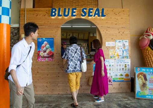 Blue seal ice cream shop, Yaeyama Islands, Ishigaki-jima, Japan