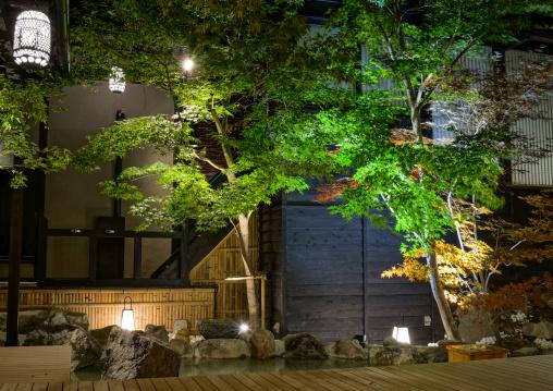 Takefue ryokan garden, Kumamoto Prefecture, Minamioguni-machi, Japan