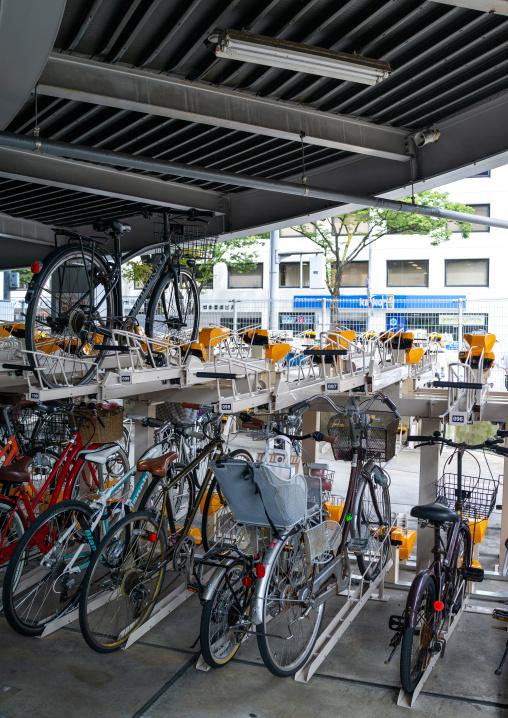 Bicycle parking station, Kyushu region, Fukuoka, Japan