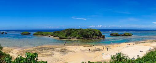 Hoshizuna beach, Yaeyama Islands, Iriomote, Japan