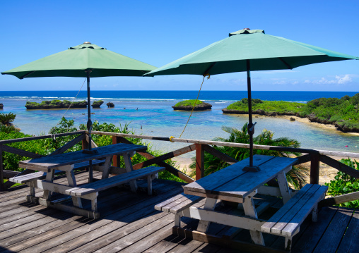 Restaurant on hoshizuna beach, Yaeyama Islands, Iriomote, Japan