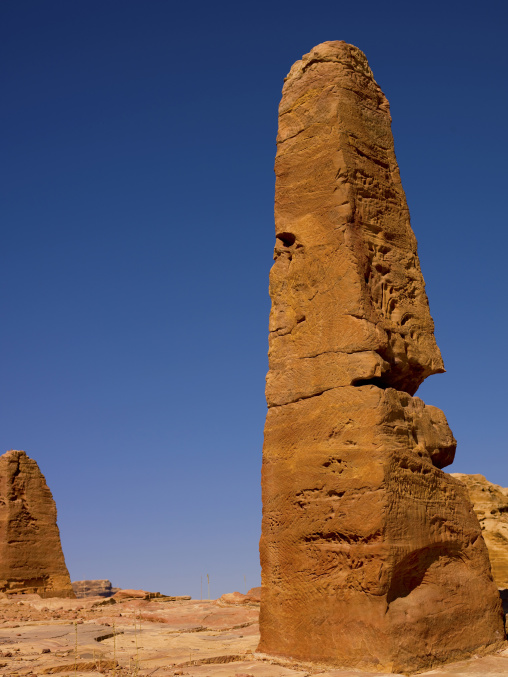 The Obelisks On High Plateau Of Petra, Jordan