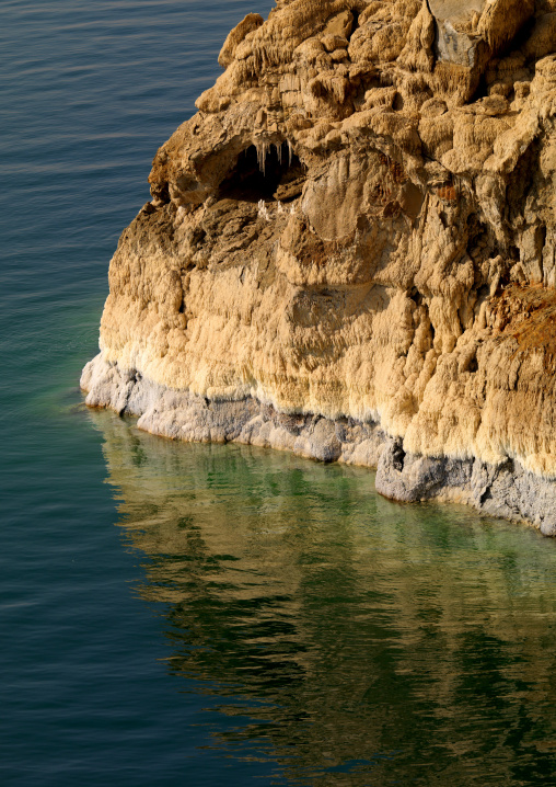 Salt Rocks In Dead Sea, On The Jordan Side