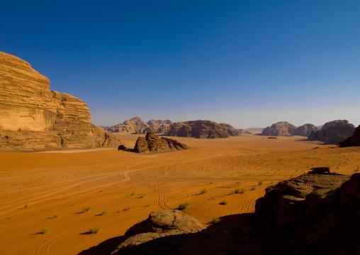 Desert Landscape At Wadi Rum, Jordan