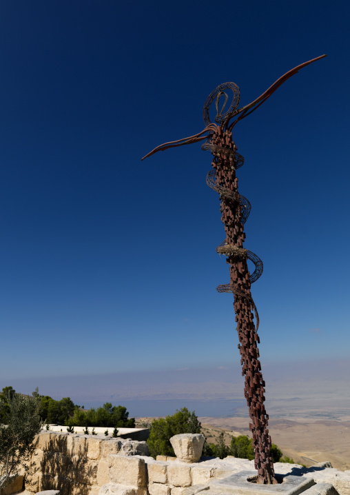 The Serpent And Cross Monument On The Summit Of Mount Nebo, Madaba, Jordan