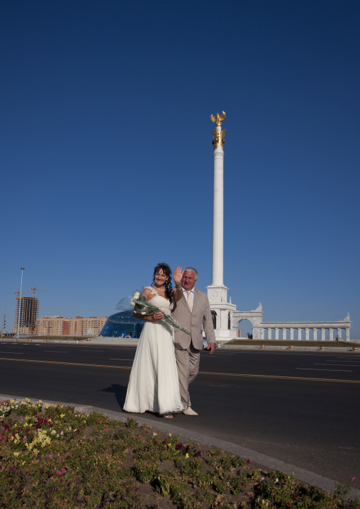 Wedding On Kazakh Eli Square, Astana, Kazakhstan