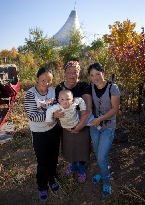 Family Living In The Poor Suburbs Of Astana, Kazakhstan