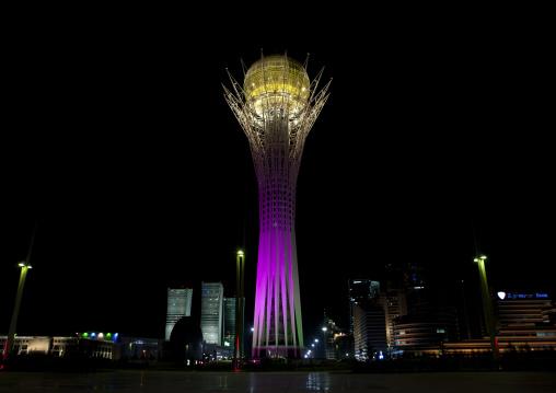 Baiterek Tower By Night, Astana, Kazakhstan