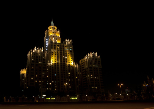The Triumph Building By Night, Astana, Kazakhstan