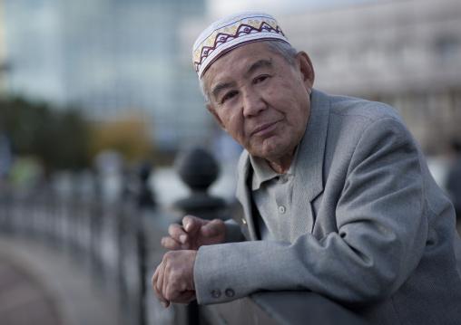 Mister Mereke, Muslim Ethnic Kazakh Old Man, Astana, Kazakhstan