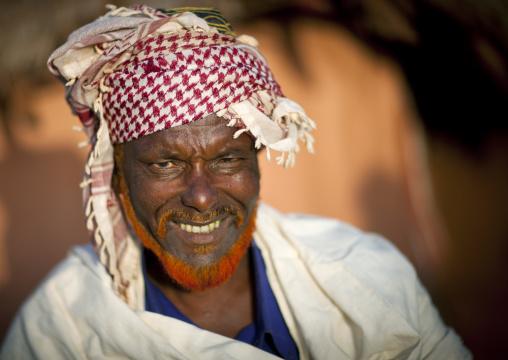 Borana tribe man with red beard, Marsabit district, Marsabit, Kenya