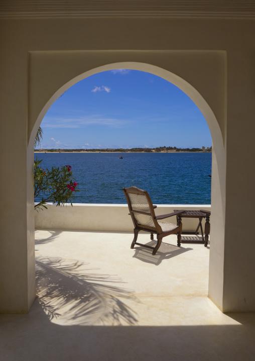 View on the sea from forodhani house, Lamu county, Shela, Kenya