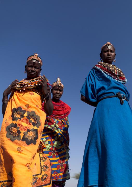Portrait of Samburu tribe women, Samburu County, Maralal, Kenya