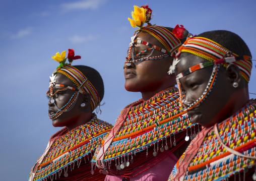 Rendille tribeswomen, Turkana lake, Loiyangalani, Kenya