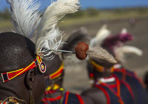 Turkana tribesmen, Turkana lake, Loiyangalani, Kenya